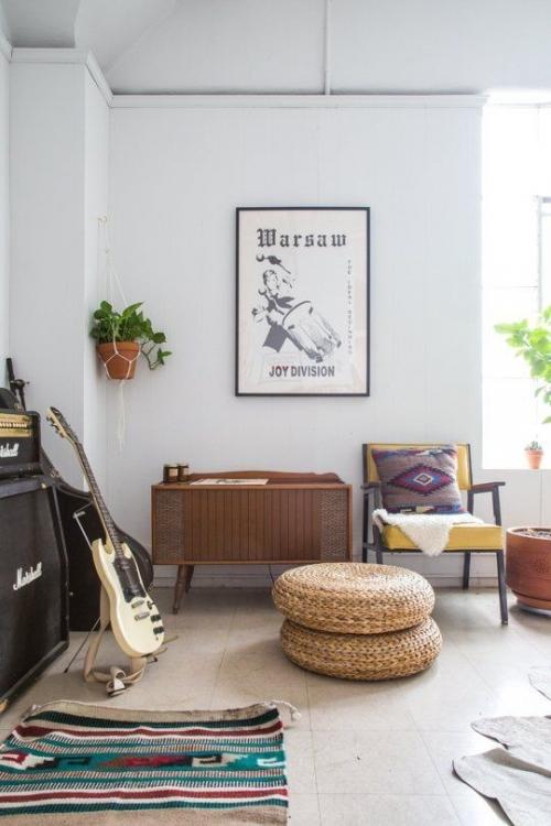 guitar display at home