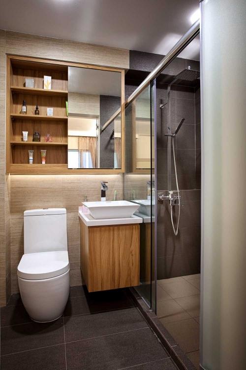 idėjos mažam vonios kambariui