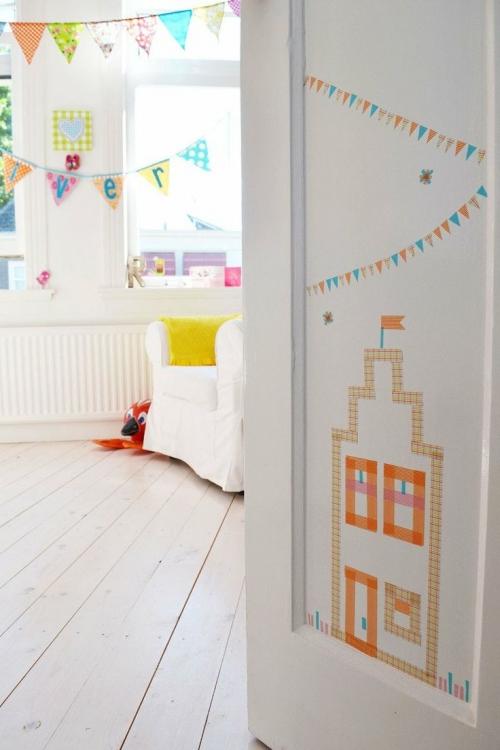 washi tape vaikų kambaryje