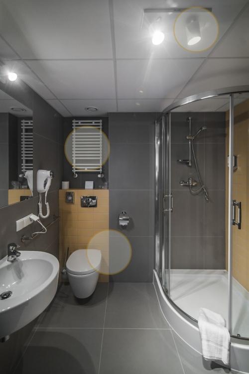 viešbučio vonios kambarys