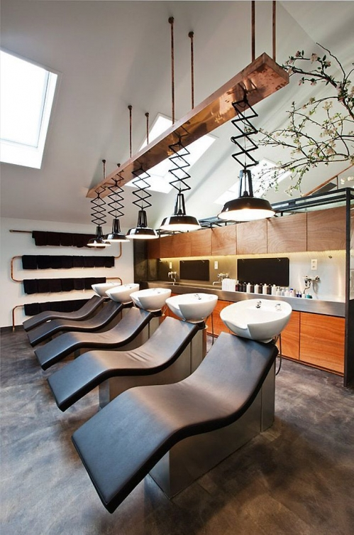 hairdressing salon interior