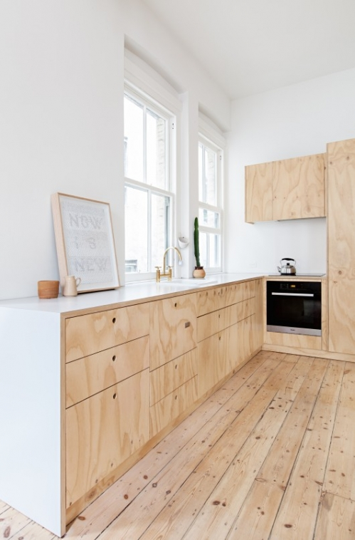 kitchen furniture from plywood