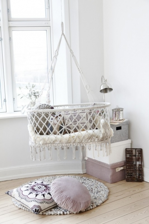 hanging bed for a baby