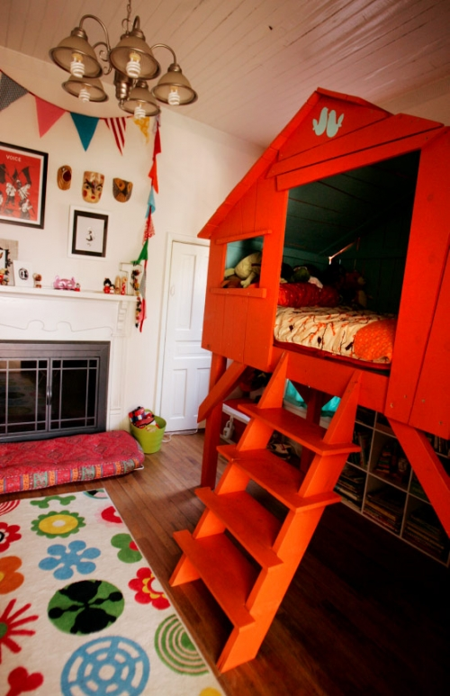 house in children's room