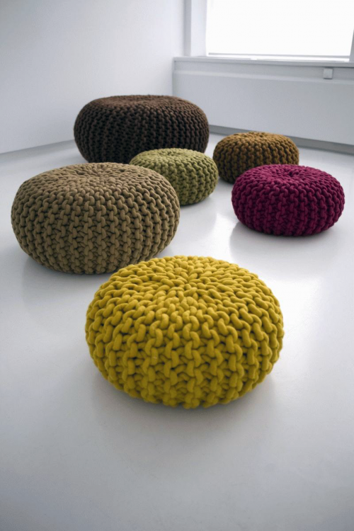 colourful poufs
