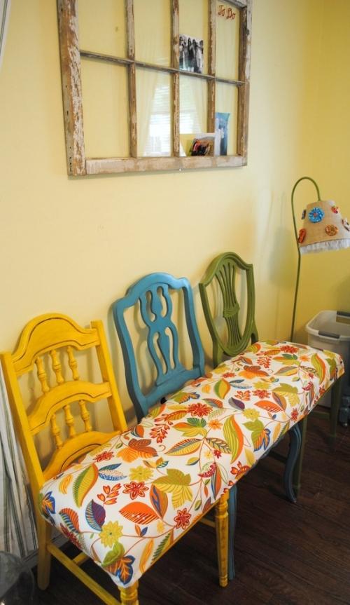 rankų darbo suolas-kedė