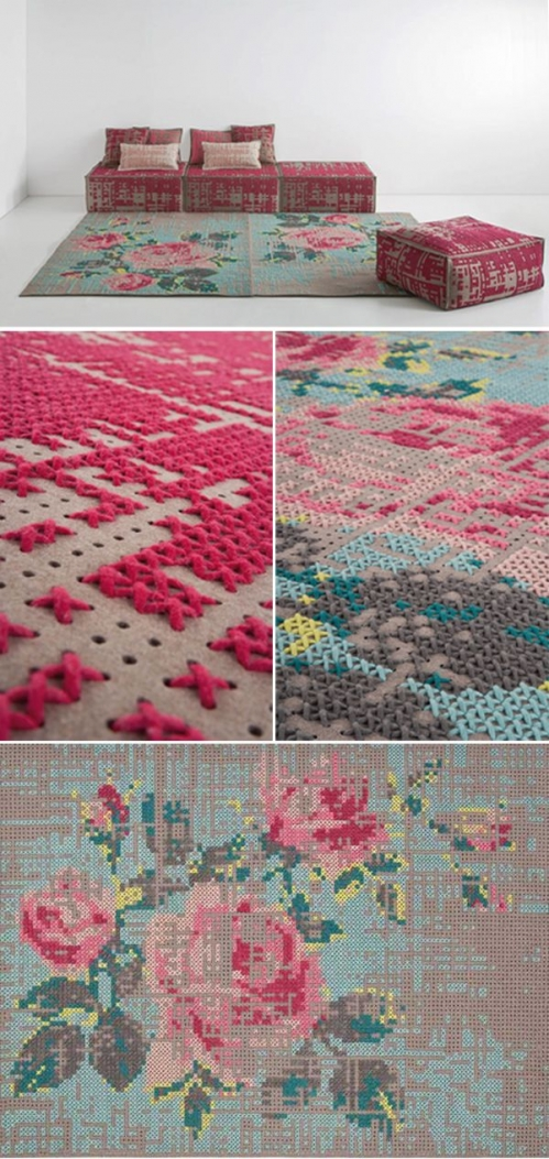 cross stitching carpet