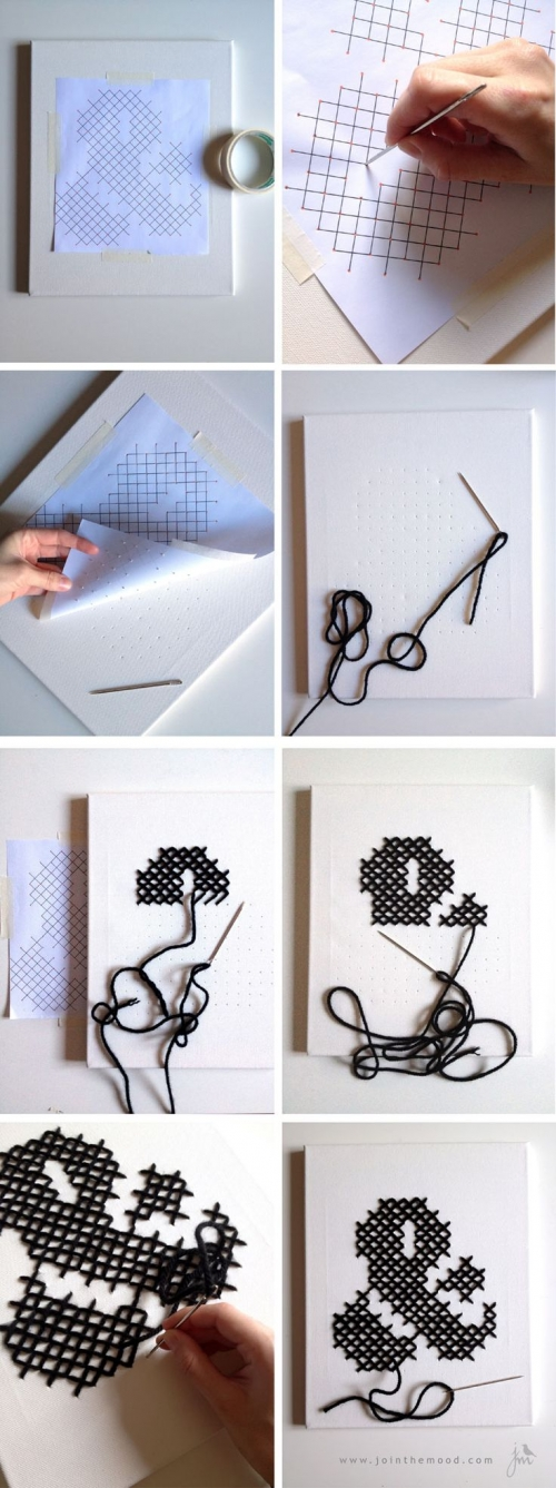 letter DIY sewing