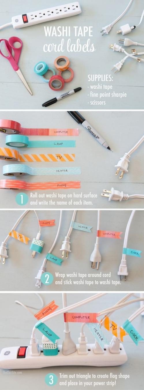 washi tape idėjos