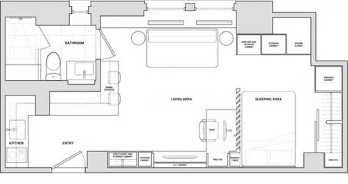 small flat plan