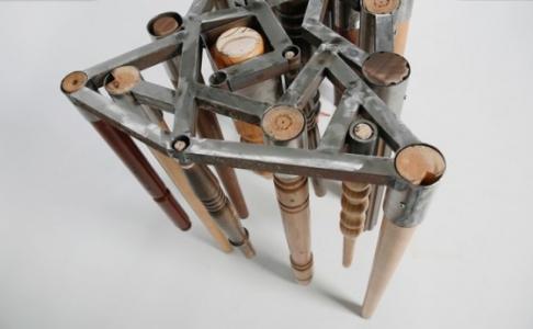 wood legs stool