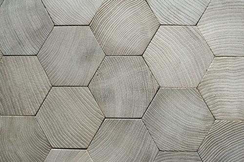 hexagon wooden floor