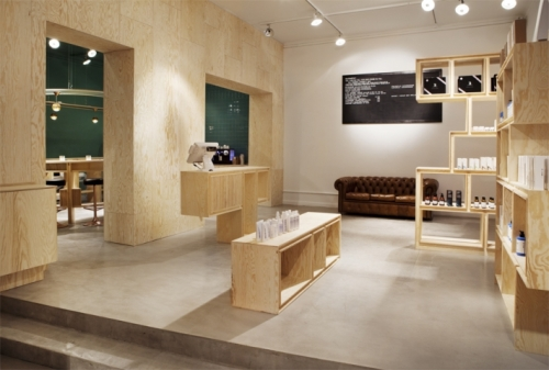 plywood store design