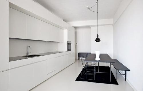 minimalistic white kitchen