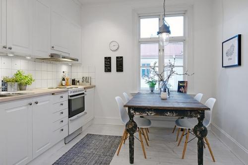 mažos virtuvės interjeras