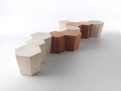šešiakampis baldas