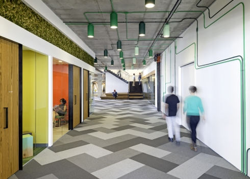 colorful office interior