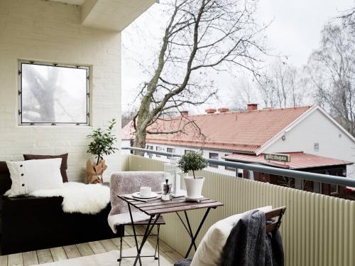 jaukus balkono interjeras