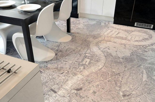 map floor covering