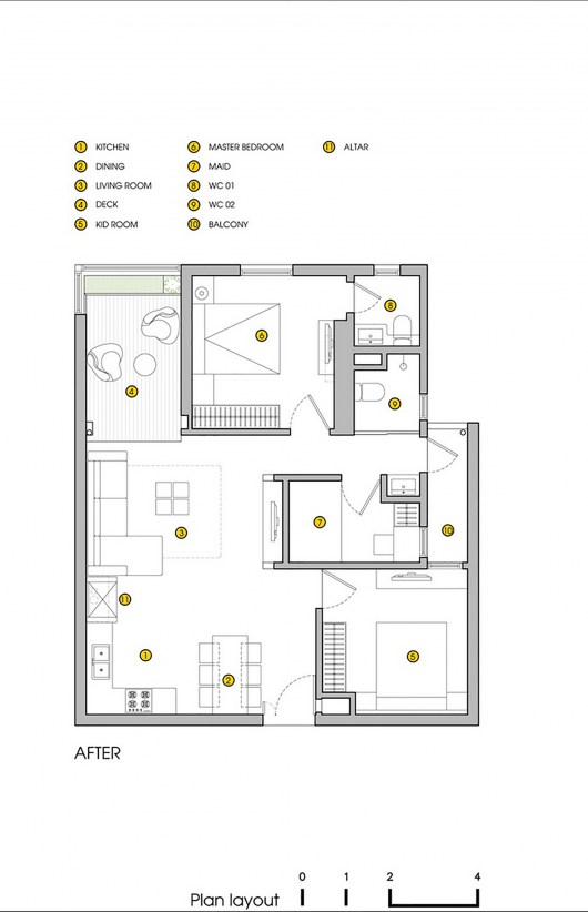 Patterned Apartment Viskas Apie Interjerą