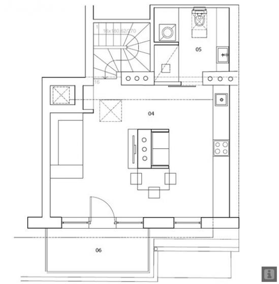 baldų plano brėžinys