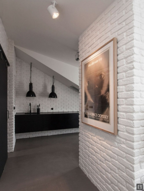 white bricks interior