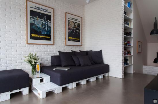 euro palečių sofa