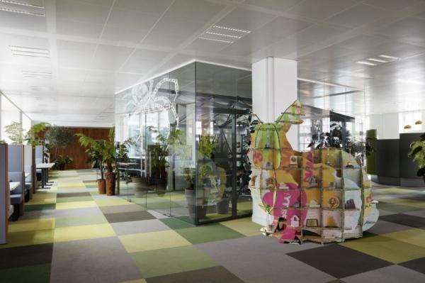 žaliasis sodas ofise