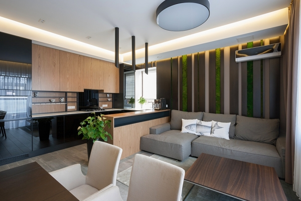 dark colors in interior