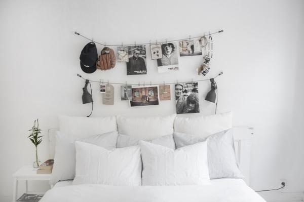 virš lovos nuotraukos
