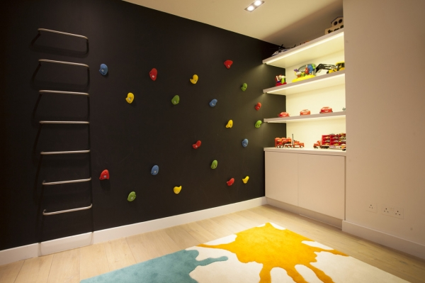 black wall children's room