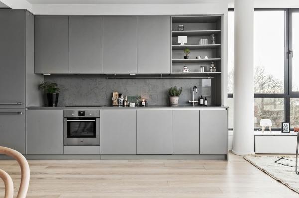 grey kitchen furniture