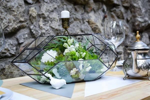stiklinis indas augalams