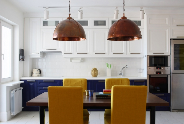 blue yellow kitchen furniture