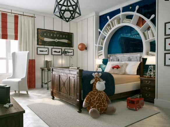 marine theme room