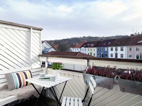 nedidelis balkonas