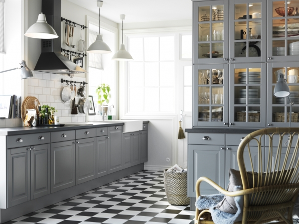 cosy kitchen in grey