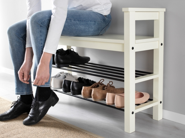 bench with shoe storage ikea