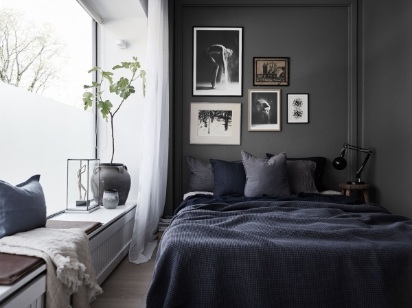 small dark bedroom