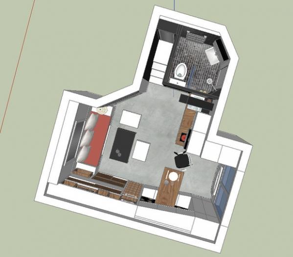 18 sq.m apartment