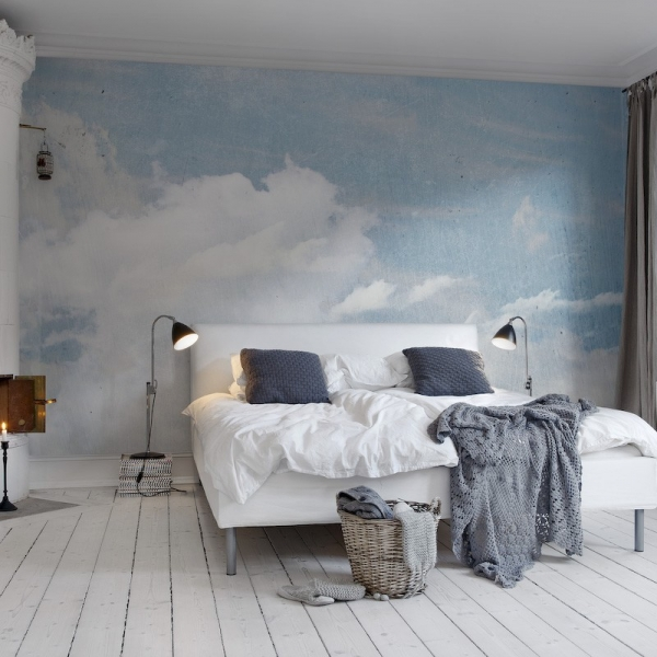 clouds drawing on the wall