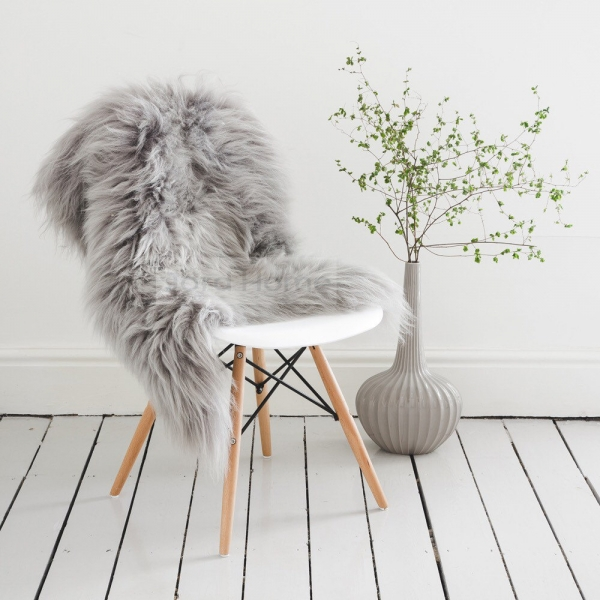 fur on the chair