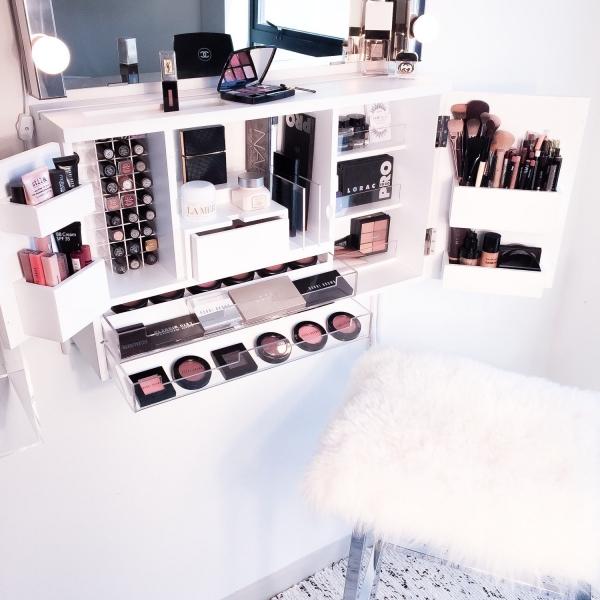 wall hung cosmetic vanity