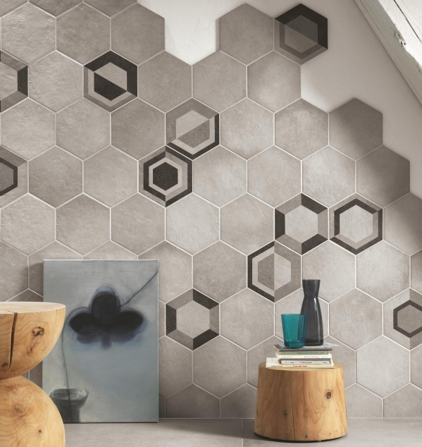 hexagon tiles design