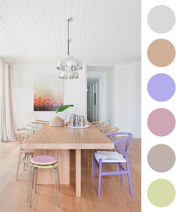 spalvų mood board
