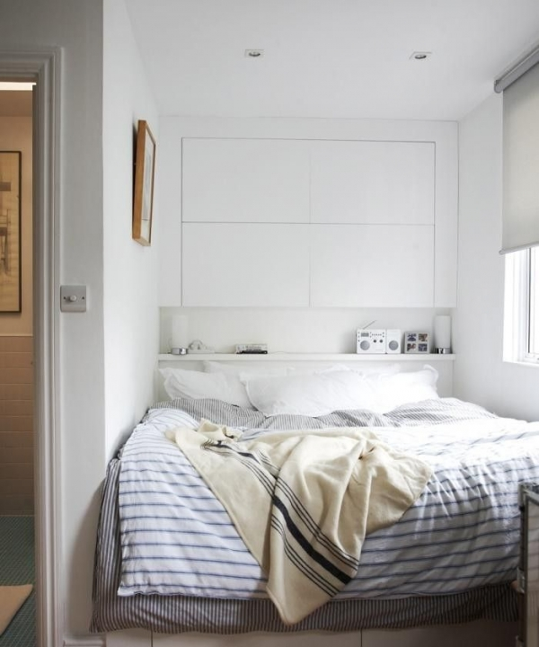 cabinets overt the bed