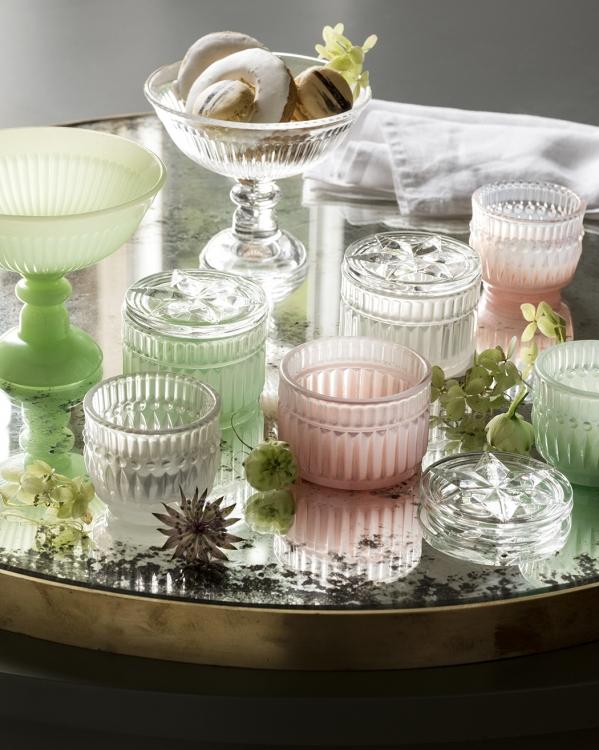 glass candlerholders