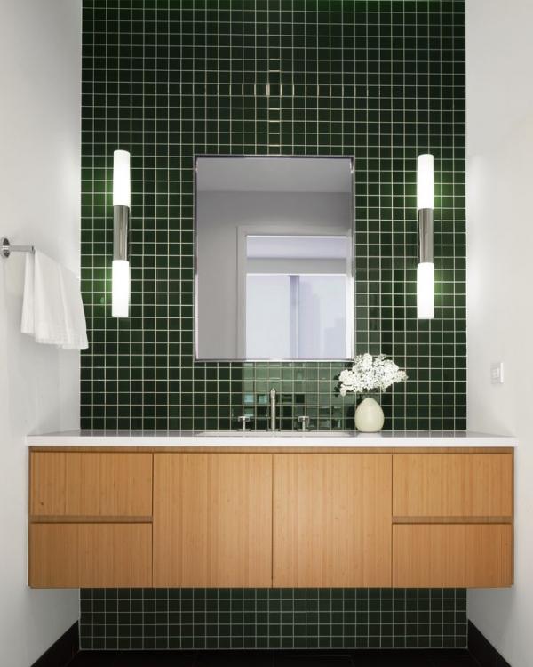 green tiles bathroom