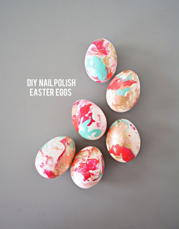 nail polish easter eggs