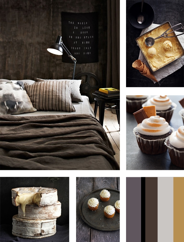 Brown mood board